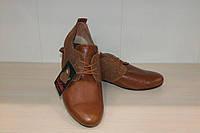 Туфли женские кожаные арт 2557 рыжие 40,41 р Violetti