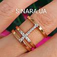Серебряное кольцо с позолотой - Брендовое серебряное кольцо с розовой позолотой, фото 6
