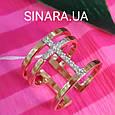 Серебряное кольцо с позолотой - Брендовое серебряное кольцо с розовой позолотой, фото 5