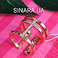 Серебряное кольцо с позолотой - Брендовое серебряное кольцо с розовой позолотой, фото 4