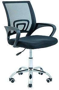 Офисное кресло Richman Спайдер черное сетка-спинка хром-колесики для персонала