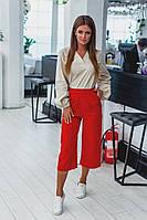 Женские джинсовые брюки-кюлоты