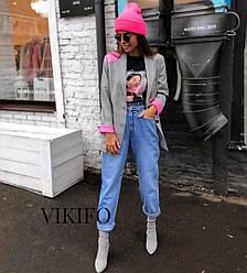 """Стильный женский пиджак с яркими  вставками """" Chic """", 2 цвета"""