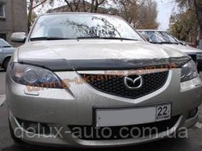 Дефлекторы капота Sim для Mazda 3  2003-09