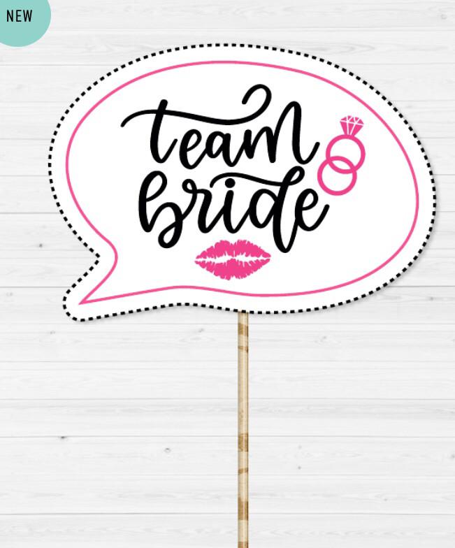 """Табличка для фотосессии """"TEAM BRIDE"""""""