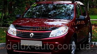 Дефлекторы капота Sim для Renault Sandero Хетчбэк 2007-14