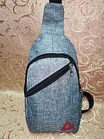 (Гарантия качества)Барсетка reebok слинг на грудь сумка спортивные Мессенджер 600d для через плечо ОПТ, фото 1