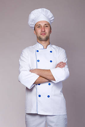 Костюм с кителем и брюками для повара (коттон), фото 2