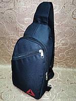 (Гарантия качества)Барсетка reebok слинг на грудь сумка спортивные Оксфорд ткань для через плечо ОПТ, фото 1