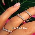 Серебряное кольцо на 2 фаланги с позолотой - Кольцо на фалангу - Фаланговое кольцо серебро с золотом, фото 2