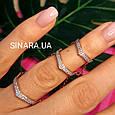 Серебряное кольцо на 2 фаланги с позолотой - Кольцо на фалангу - Фаланговое кольцо серебро с золотом, фото 5