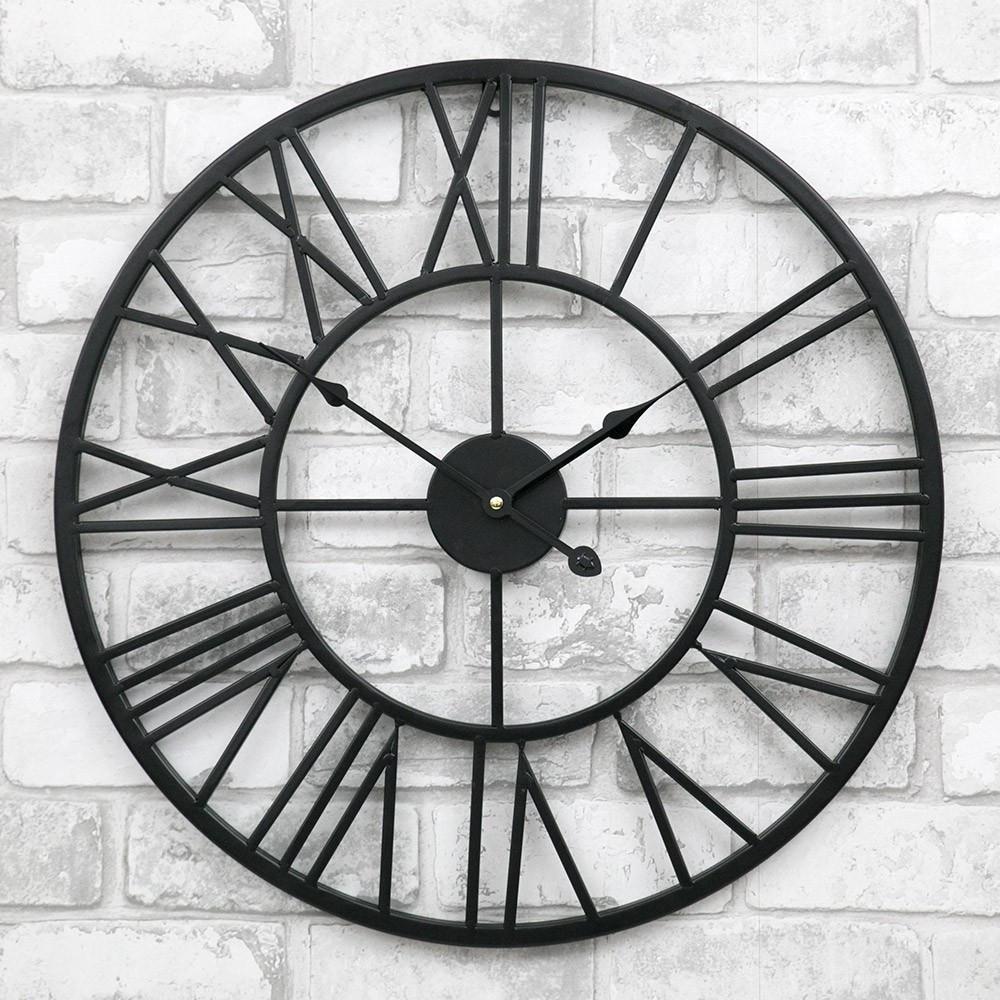 Часы настенные металлические в стиле лофт - Milano 50