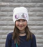 Шапка для девочки с пайетками перевертышами Очки, фото 7