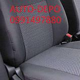 Авточохли для Fiat Doblo 1+1 з 2010 р. в., Чохли на сидіння Фіат Добло 1+1 2010-, фото 2