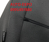 Авточохли для Fiat Doblo 1+1 з 2010 р. в., Чохли на сидіння Фіат Добло 1+1 2010-, фото 3
