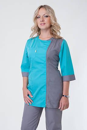 Женский медицинский костюм комбинированный, фото 2