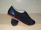 Туфли женские из натуральной кожи черные  арт 314 Gerda 37 р., фото 2