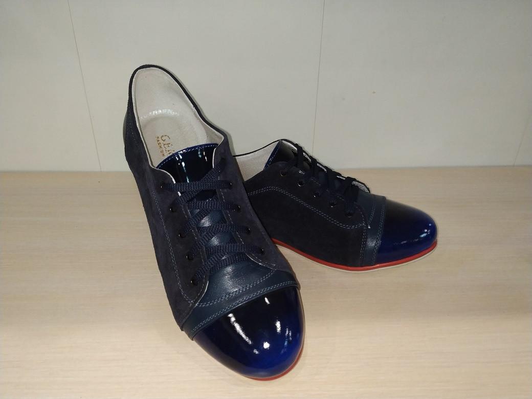 Туфли женские из натуральной кожи черные  арт 314 Gerda 37 р.