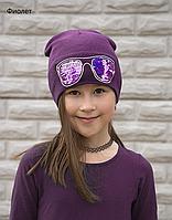 Красивая шапка с пайетками на девочку