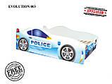 Дитяче ліжко кровать машина Evolution Полицейска Police, фото 2