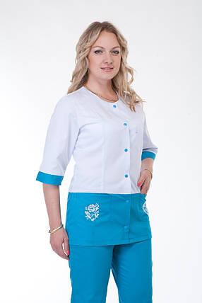 Комбинированный женский медицинский костюм, фото 2