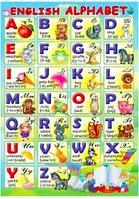 """Плакат """"Английский алфавит""""  English alphabet"""
