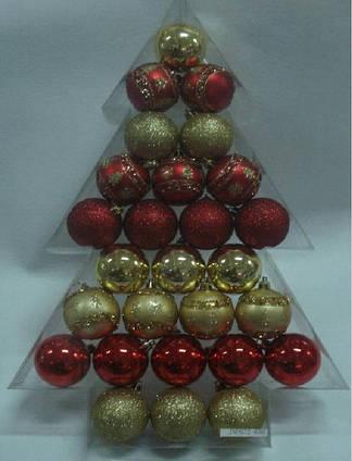 Комплект шаров 6 см*27 шт., пластик (030408)