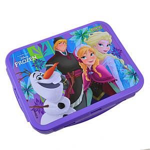 """Контейнер для їжі """"Frozen"""", 1000 мл, з ложкою та виделкою"""