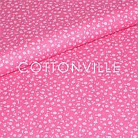 Бязь Цветочки мини, розовый фон, фото 1