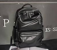 Мужской городской рюкзак эко кожа + визитница в подарок
