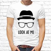 """Мужская футболка с принтом """"Look at me"""" Push IT"""