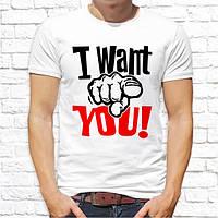"""Мужская футболка с принтом """"I want you!"""" Push IT"""