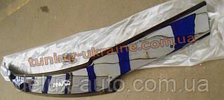 Дефлектор капота (мухобойка ANV) для Daewoo Nexia 2008-15 на скобах