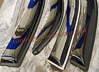 Дефлекторы боковых окон (ветровики) AutoClover для Hyundai Santa Fe 2 2010-13 длинные