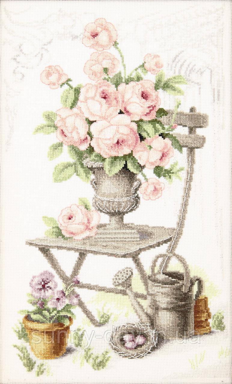"""Набор для вышивки крестиком """"Летний натюрморт с розами"""""""