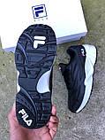 Стильные Мужские Кроссовки FILA Venom черные Премиум Качество Брендовые Фила реплика 40 41 42 44р, фото 2
