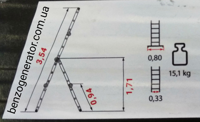 Лестница-трансформер Stark SAT 4x3