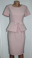 Костюм женский, блуза баска и юбка, розовый, Турция, фото 1