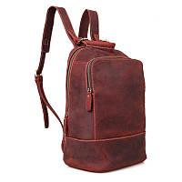 Женский кожаный рюкзак бордовый John McDee C008X