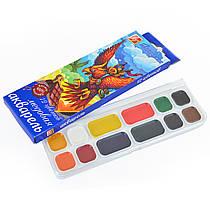 Фарби акварельні Промінь Фантазія 12 кольорів в пластиковій упаковці 25С1526-08