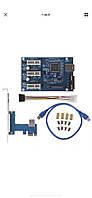 Новая плата расширения PCI-E 1х на 3 port  pci-e ,с питанием sata и molex райзер, Riser кабель usb 3.0 60 см