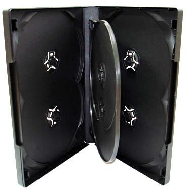 Бокс для 6 DVD дисков 14mm Black глянцевая пленка