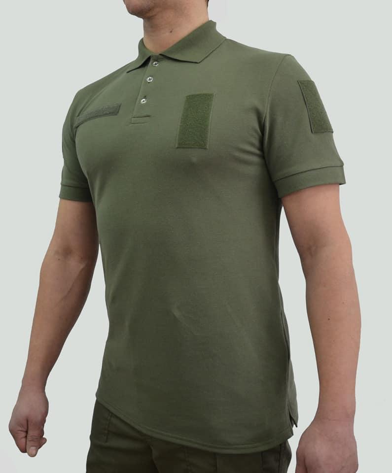 Формення футболка поло олива ВСУ, Нацгвардия, охрана