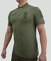 Формення футболка поло олива ВСУ, Нацгвардия, охрана, фото 1