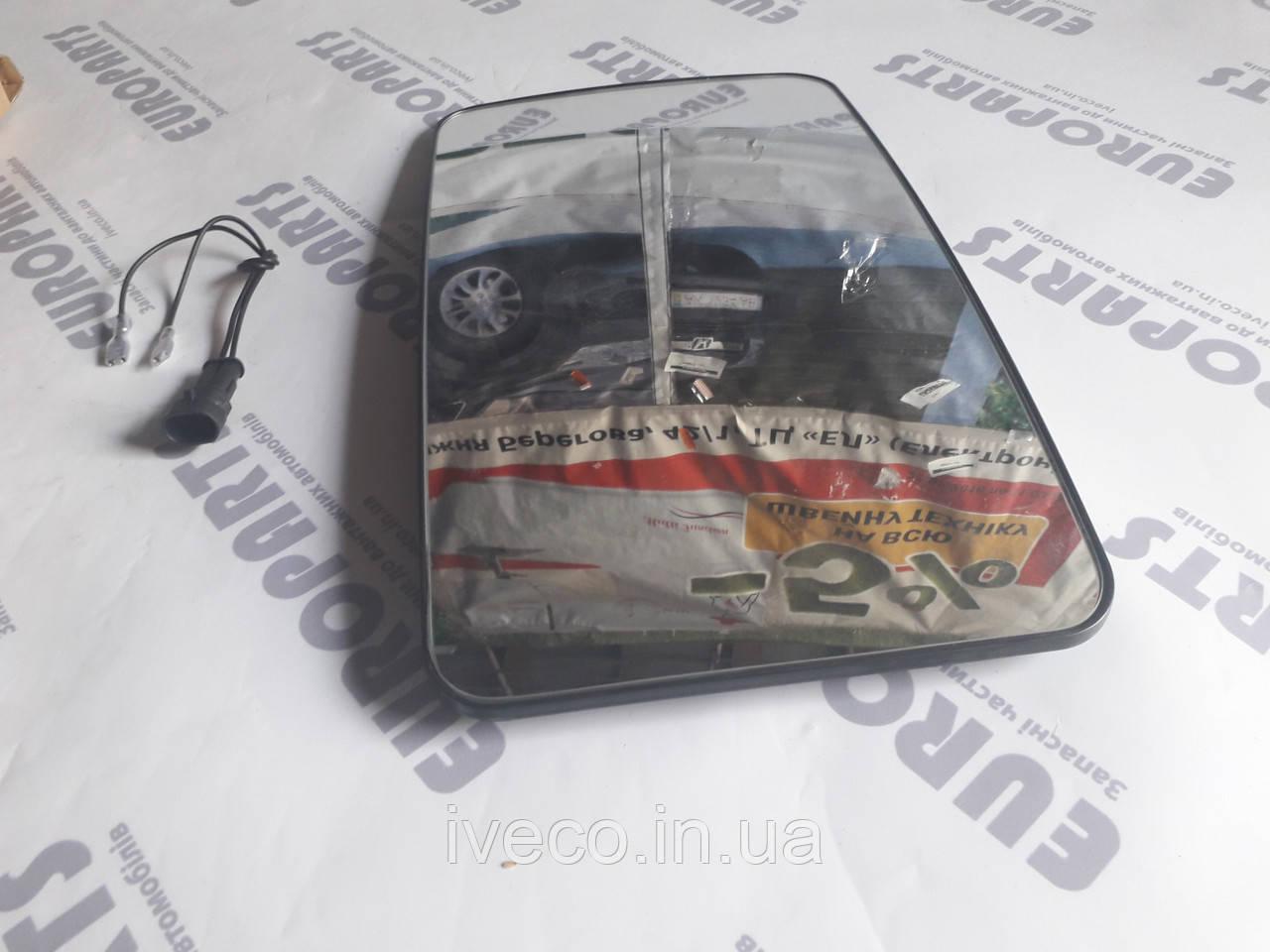 93193197 Стекло зеркала заднего вида с подогревом Ивеко IVECO EUROTECH EuroStar Trakker Eurocargo 93190970