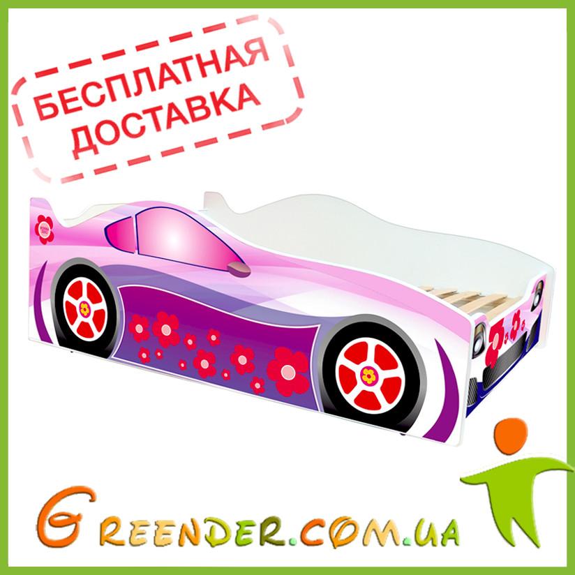 Детская кровать машина для девочки Evolution Pink (доставка бесплатная!)