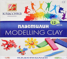 Пластилин Луч Классика 12 цветов со стек картонный вкладыш 7С331-08
