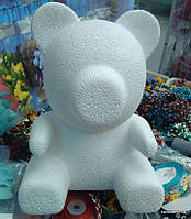 """Заготовка пенопластовая """"Мишка"""", Высота: 35 см, Цвет: Белый"""