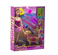 """Кукла с собакой """"Барби"""" (в платье) 18019"""