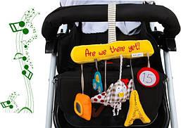 """Детская Игрушка подвеска на коляску кроватку """"Сова"""". Детский музыкальный мобиль для кроватки, коляски"""
